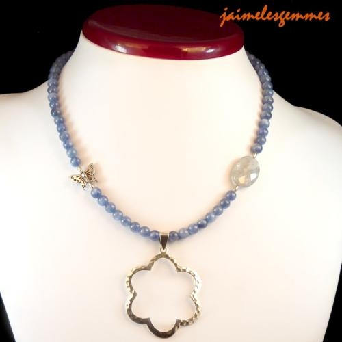 Collier en cyanite disthène