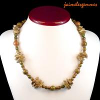 Collier ethnique unakite 2