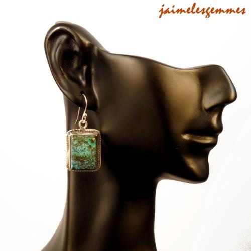 Boucles rectangulaires chrysocolle