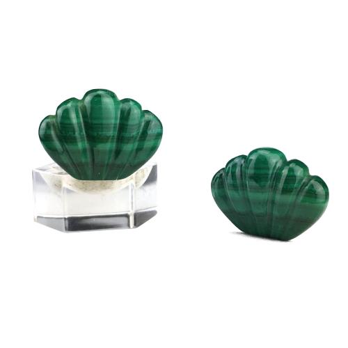 Clips coquille en malachite