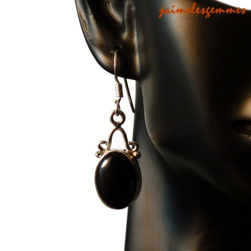 Boucles ovales onyx