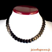Collier disques onyx