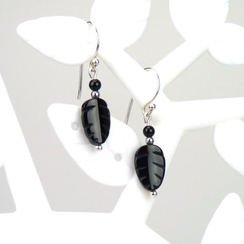 Boucles feuille onyx
